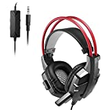 LESHP Gaming Headsets with Mic,Stereo Noise Cancelling For PS4 PC Laptop Xbox One (Black & red)