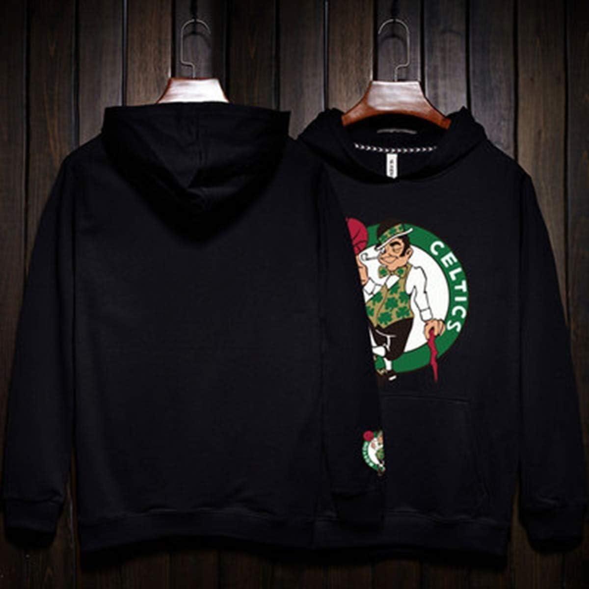 SMLSMGS Hombres Sudadera celtas/tío dibujó Baloncesto Jersey con Capucha Moda Sudadera Pullover Camiseta for niños pequeños Encapuchado (Color : Black, Size : M): Amazon.es: Hogar
