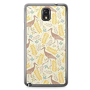 Flamingo Pattern Samsung Galaxy Note 3 Transparent Edge Case - Animal Patters Collection