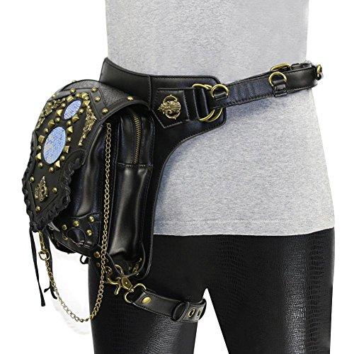 MTZLL Multifunktionsfrauen Schulter diagonal Kette Tasche Punk Taschen