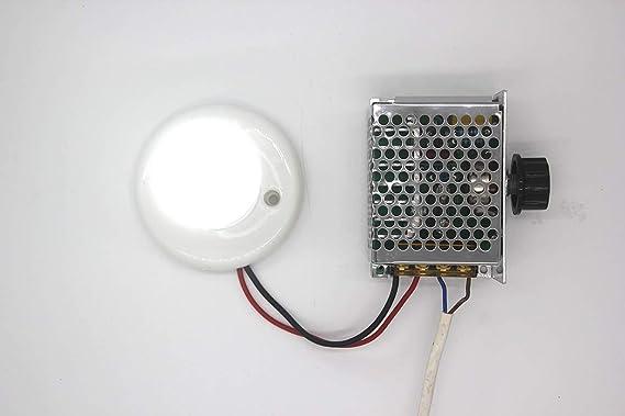 Professionelle Spannungsregler 4000 Watt 220 V Hochleistung SCR Drehzahlregler Gouverneur Thermostat Dimmer Motordrehzahlregl