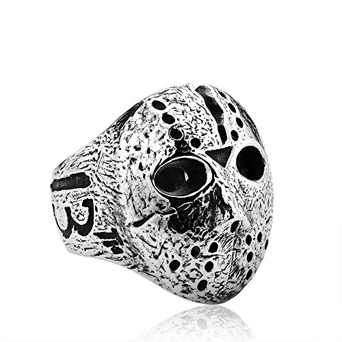 Original Jason Mask Ring Jewelry for Men Stainless Personalized Ring Black Friday Jewelry BR8-192 (grey, -