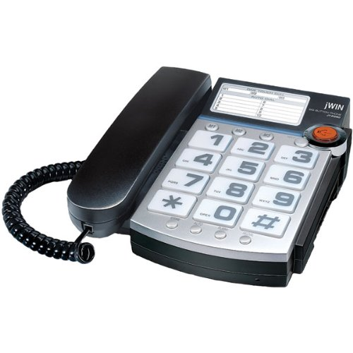 jWIN JTP390BLK Big Button Corded Speakerphone with 13 Number Memory (Black) Toshiba JWNJTP390BLK