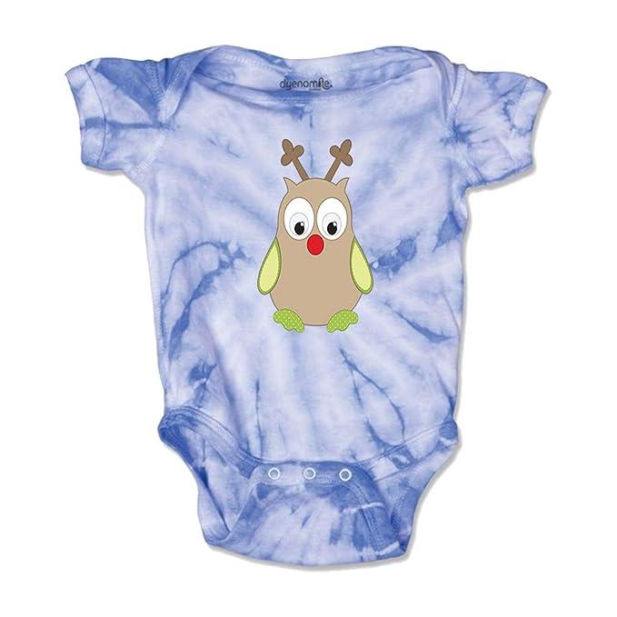 cfa35effa Toy Owl Rudolf Short Sleeve Envelope Neck Boys-Girls Cotton Baby Tie Dye  Bodysuit Jersey