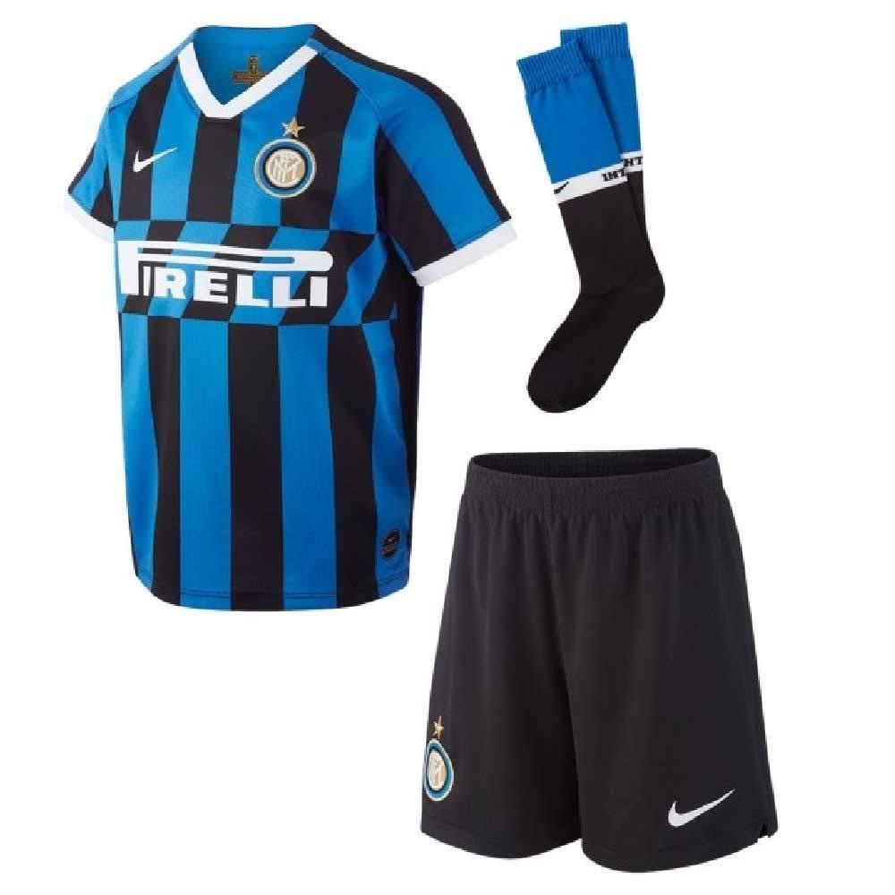 half off ba583 fdfd4 Nike 2019-2020 Inter Milan Home Little Boys Mini Kit: Amazon ...