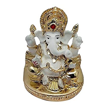 Buy gift articles small whitegolden ganesha idol online at low gift articles small whitegolden ganesha idol negle Image collections