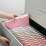 Smead File Folder, 1/3-Cut Tab, Letter Size, Pink, 100 per Box (12643)