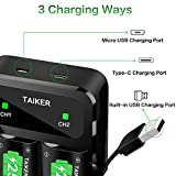 TAIKER Compatible with Xbox One Battery 4 Pack x