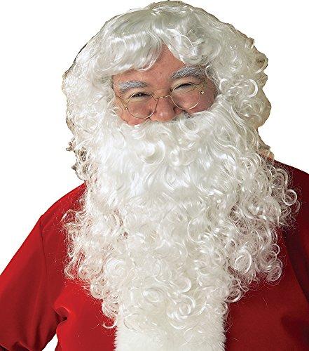 Santa Claus Wig & Beard (Economy Santa Wig & Beard Set Costume Accessory)