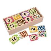 Melissa & Doug Self-Correcting Wooden Number Puzzles With Storage Box (40 pcs)