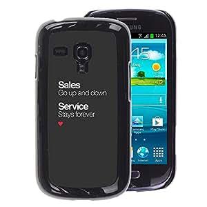 A-type Arte & diseño plástico duro Fundas Cover Cubre Hard Case Cover para Samsung Galaxy S3 MINI 8190 (NOT S3) (Sales Service Business Office Corporate)