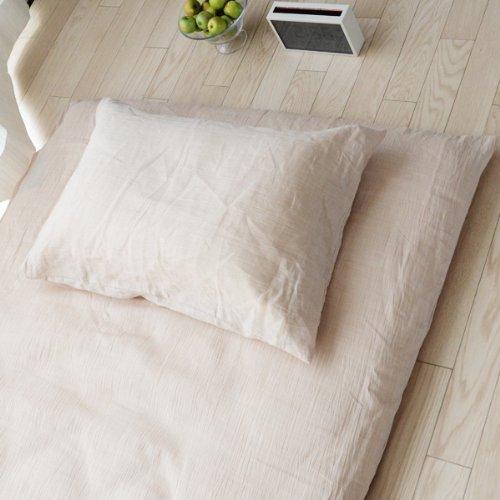 emoor 100 ohmi hemp futon mattress cover beige japanese full size made in japan buy. Black Bedroom Furniture Sets. Home Design Ideas