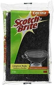 3M Scotch-Brite Fibra para Hornos y Parrillas, Color Negro