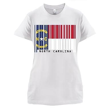 North Carolina / Nord-Carolina Barcode Flagge - Damen T-Shirt - Weiß -