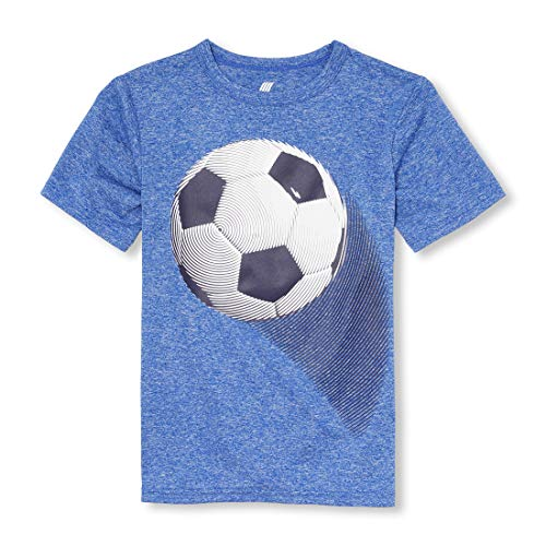 The Children's Place Baby Boys Graphic T-Shirts, Edge Blue, XS (4) (Best Place For Plain T Shirts)