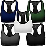 FITTIN Crossback Sports Bras Pack of 3 - Padded...