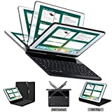 Keyboard case Compatible with iPad Pro 10.5 inch 2017, Lenrich 180 rotatable Keyboard Wireless 360 Smart Folio Cover Hard Shell Swivel Stand Auto Sleep/Wake up (Not Backlit Black)