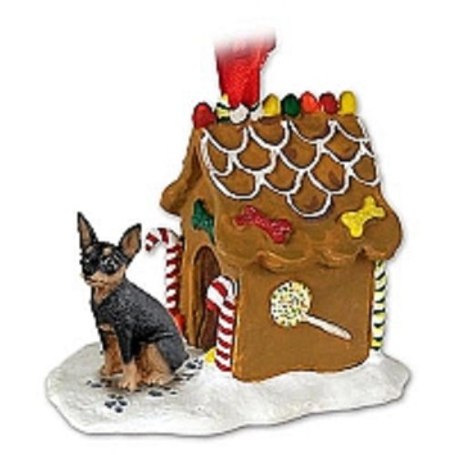 Miniature Pinscher Gingerbread House Christmas Ornament New Gift
