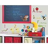 Lunarland EDUCATION STATION ABC 123 Wall Stickers Room Decor School Preschool Decals Kids