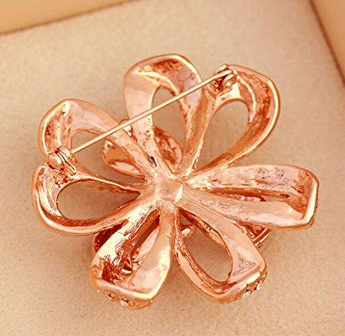 Nœud d'arc Rosette Diamants Broche Costume broche Broche corsage et Pin pour les femmes Enfants