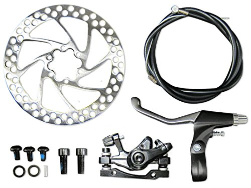 Complete Rear Brake (Complete 26 Inch REAR Wheel Disc Brake Assembly for E-bikes, Motor Bikes, Bikes)