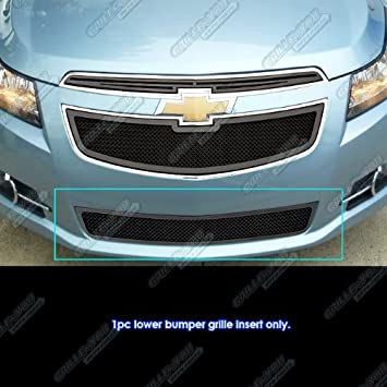 Fit 2011 - 2014 Chevy Cruze LT/LTZ RS paquete/Turbo Bumper Negro Rejilla de malla # n19-h04867 C: Amazon.es: Coche y moto