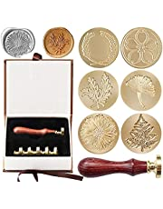 Wax Seal Stamp Set,6 Pieces Insect Animal Sealing Wax Stamps Gift Kit with 1Pcs Wooden Hilt, Vintage Classical Wax Stamp Kit for Cards Envelopes, Invitations, Wine Packages