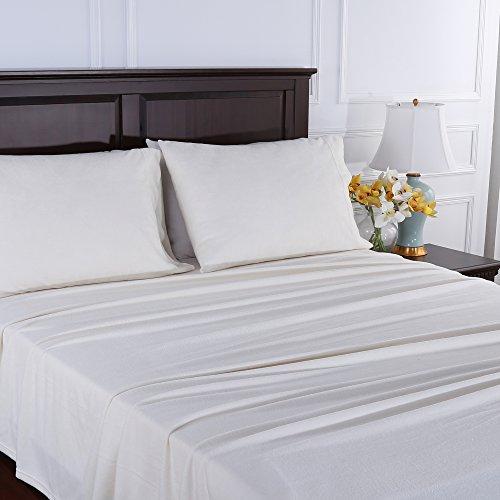 Berkshire Blanket Original Microfleece Set Fleece Sheets, Twin, Warm Ivory ()