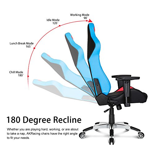 AKRacing Premium Series Luxury Gaming Chair with High Backrest Recliner Swivel Tilt Rocker and Seat Height Adjustment Mechanisms with 5/10 warranty (Tri ...  sc 1 st  Gaming Chairs & AKRacing Premium Series Luxury Gaming Chair with High Backrest ...
