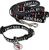 Hunter Chicago Bulls Pet Combo Set (Collar, Lead, ID Tag), Small Size