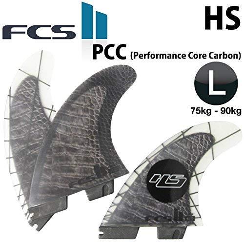 日本正規品 ショートボード用フィン FCS2 FIN エフシーエス2フィン HS PC CARBON 3フィン HS LARGE(75-90kg B01GPWZBRS
