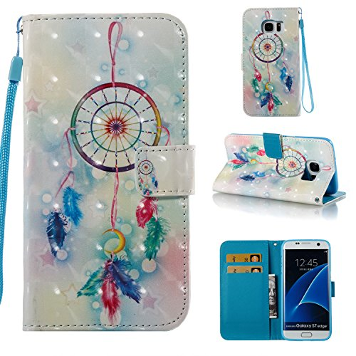ARSUE Galaxy S8 Plus Case, Magnetic Premium Slim Fit PU Leather Kickstand Wallet Flip Protective Case Cover with Card Slot for Samsung Galaxy S8 Plus(Dream Catcher Mandala)