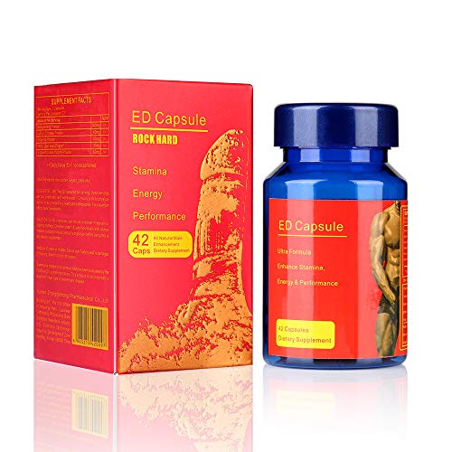 ED Pills Man Supplement 42 Capsules, 100% Natural Herbs Male Performance Pills, Nutritional Supplement for Men Enhance Energy, Stamina, Immune & (Best Ed Pills)