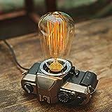 DMMSS Retro Film Machine Manual Original Lamp Wire Lamp Retro Camera Desktop Atmosphere Decorative Table Lamp