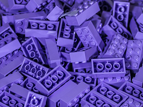 Imex 2x4 Stud Purple Compatible Bricks, 100pc