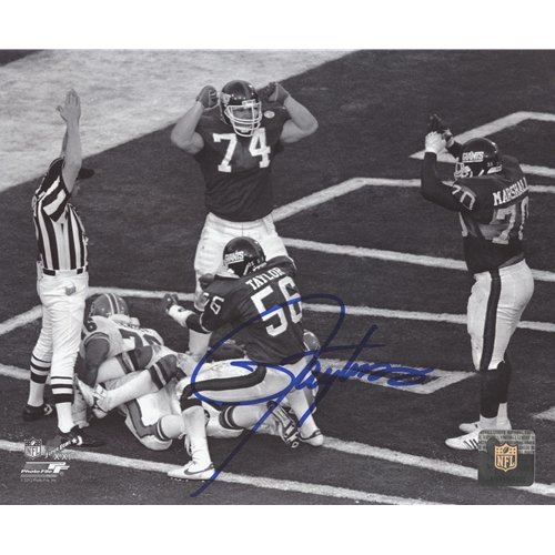 (Lawrence Taylor Autographed New York Giants (SB XXI Safety) 8x10 Photo)
