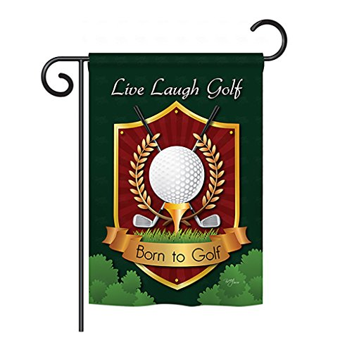 Breeze Decor G159042 Live, Laugh, Golf Interests Sports Decorative Vertical Garden Flag, 13