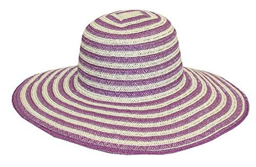 Midwest Gloves & Gear Ladies Striped Straw Garden Sun Hat, 43F6