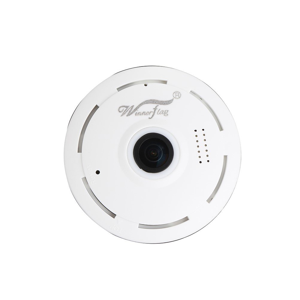Winnerflag IP Camera Wireless Wifi 360 Degree Panoramic 2.0 Megapixel 1080P 2.4GHZ Security Camera Super Wide Angle Support IR Night Motion Detection Keep Your Pet & Home Safe
