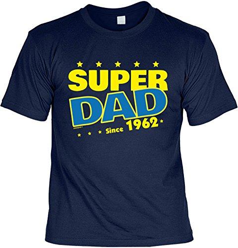 T-Shirt - Super Dad Since 1962 - lustiges Sprüche Shirt als Geschenk zum 55. Geburtstag