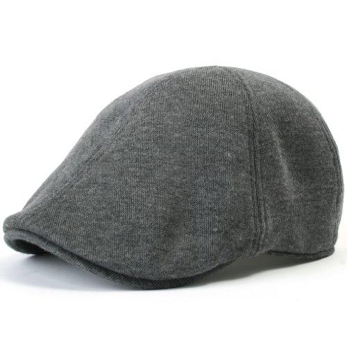 Duckbill Cap - ililily Soft cotton Newsboy Flat Cap Pre-curved ivy stretch-fit Driver Hunting Hat (flatcap-506-5)
