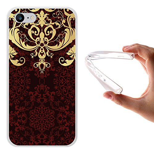 iPhone 8 Hülle, WoowCase Handyhülle Silikon für [ iPhone 8 ] Luxus Barockmuster Handytasche Handy Cover Case Schutzhülle Flexible TPU - Transparent