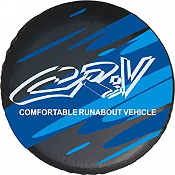 Automelody ® 27-29Inch Spare Tyre Cover Tire Cover Black For Honda CR-V CRV + Swing Gift Packing Bag (205/70R15 & 215/65R16, type1)