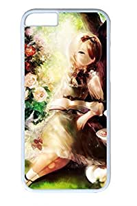 Anime Forest Girl Cute Hard Cover For iPhone 6 Plus Case ( 5.5 inch ) PC White Cases