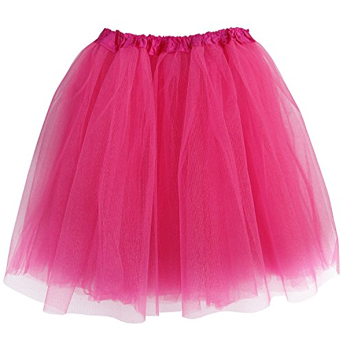 Plus Size Adult Tutu-Princess Costume Ballet Warrior Dash 5K Run Running Skirt (Hot Pink),Plus Size