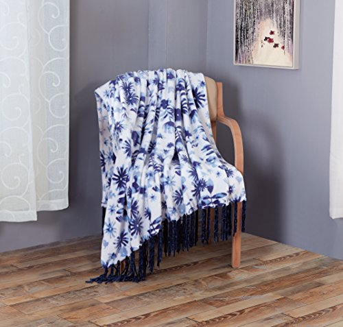(RT Designers Collection Avery Printed Flannel Throw, 50