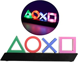 Ps Lcons LED Light, 3 Lights Modes. Game Room Accessories and Playstation Decor Lamp.