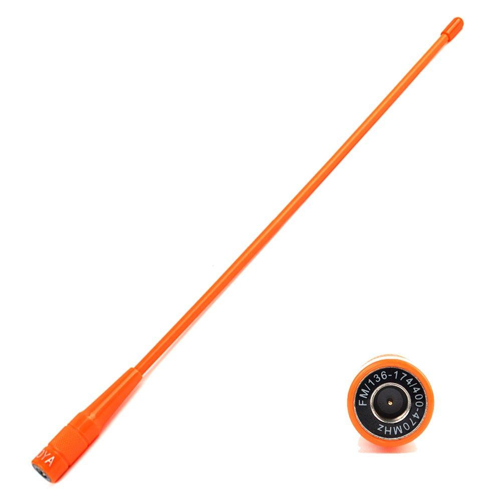 NAGOYA NA-771N Two Way Radio SMA-Male 144//430MHz UHF//VHF Antenna 15/'/' Soft Whip Orange Walkie Talkie Aerial fit YAESU VERTAX VX-3R VX-5R Baofeng UV-3R TYT DM-UVF10 TH-UVF9 NAN AN QIXING ELECTRONIC CO LTD NA-771N Male Orange