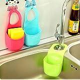 Kitchen Sink Shelf, Sponge PVC Hanging Shelving Rack Bathroom Soap Drain Faucet Basket Storage Pail Shelves Kitchen Accessories