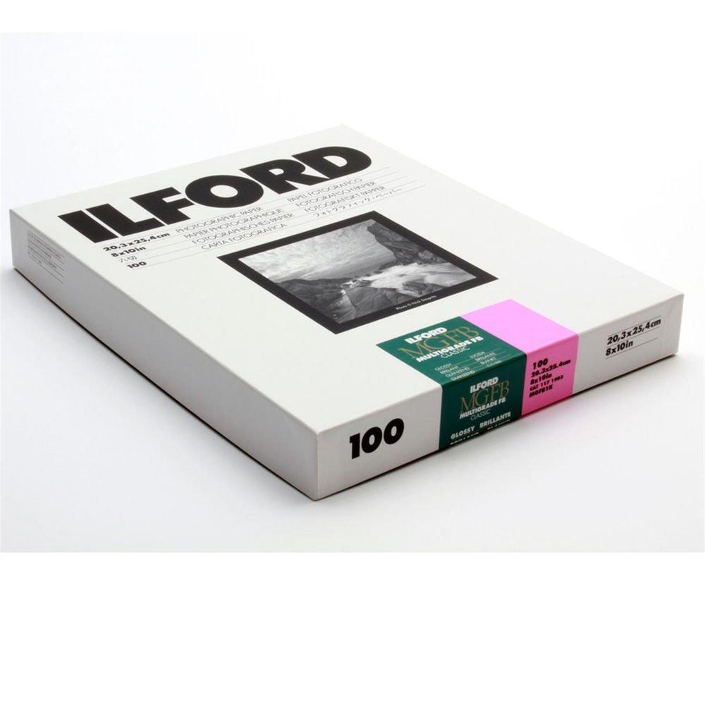 Ilford MGFB1K Fiber Based B & W Paper - 8x10, 100PK Glossy by Ilford